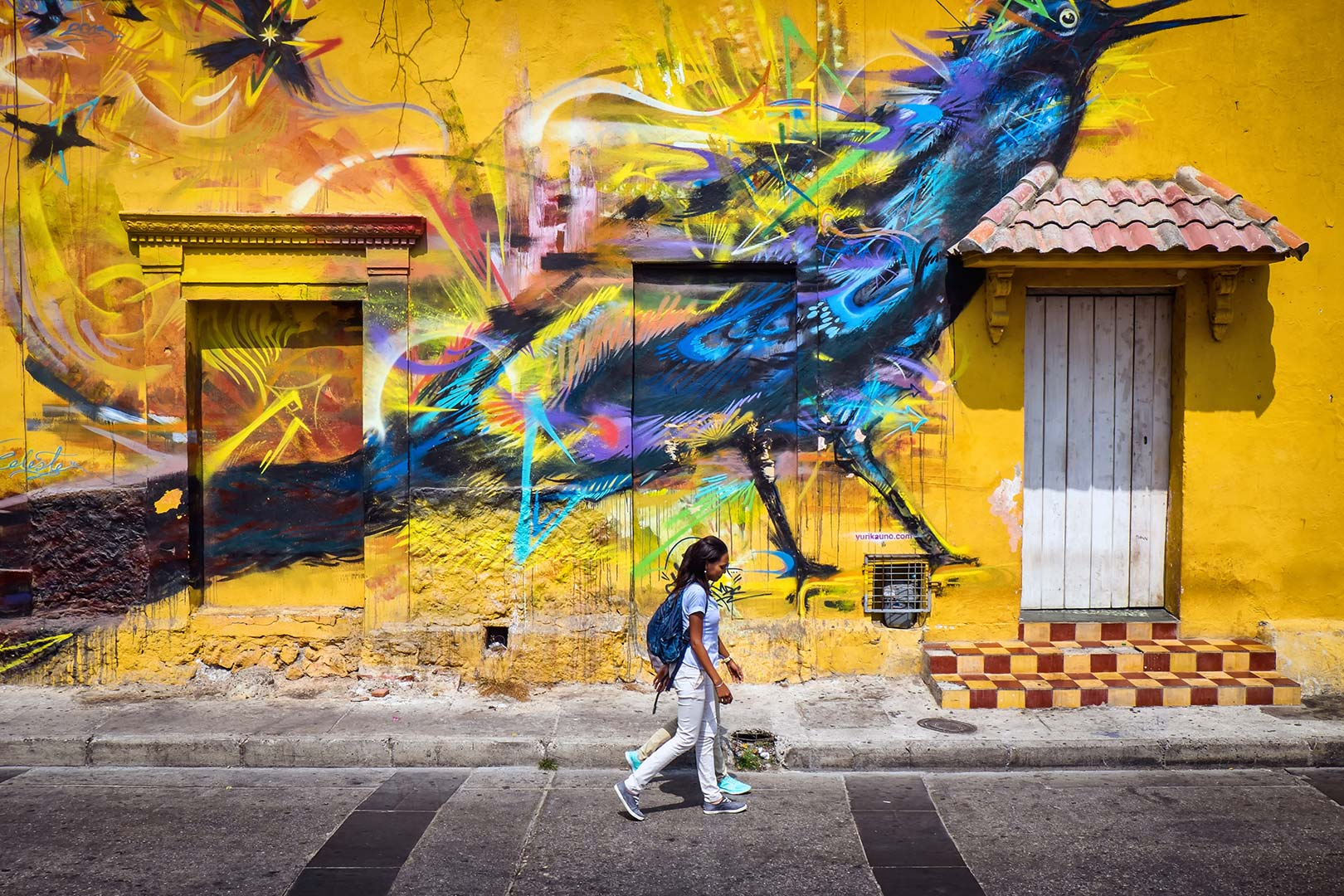 Picture of a mural in the Getsemaní neighborhood, Cartagena, Colombia