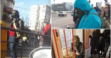 Isteria coronavirus aduce pe străzi, în Romania, oameni mascaţi ca în filmele cu atacuri chimice
