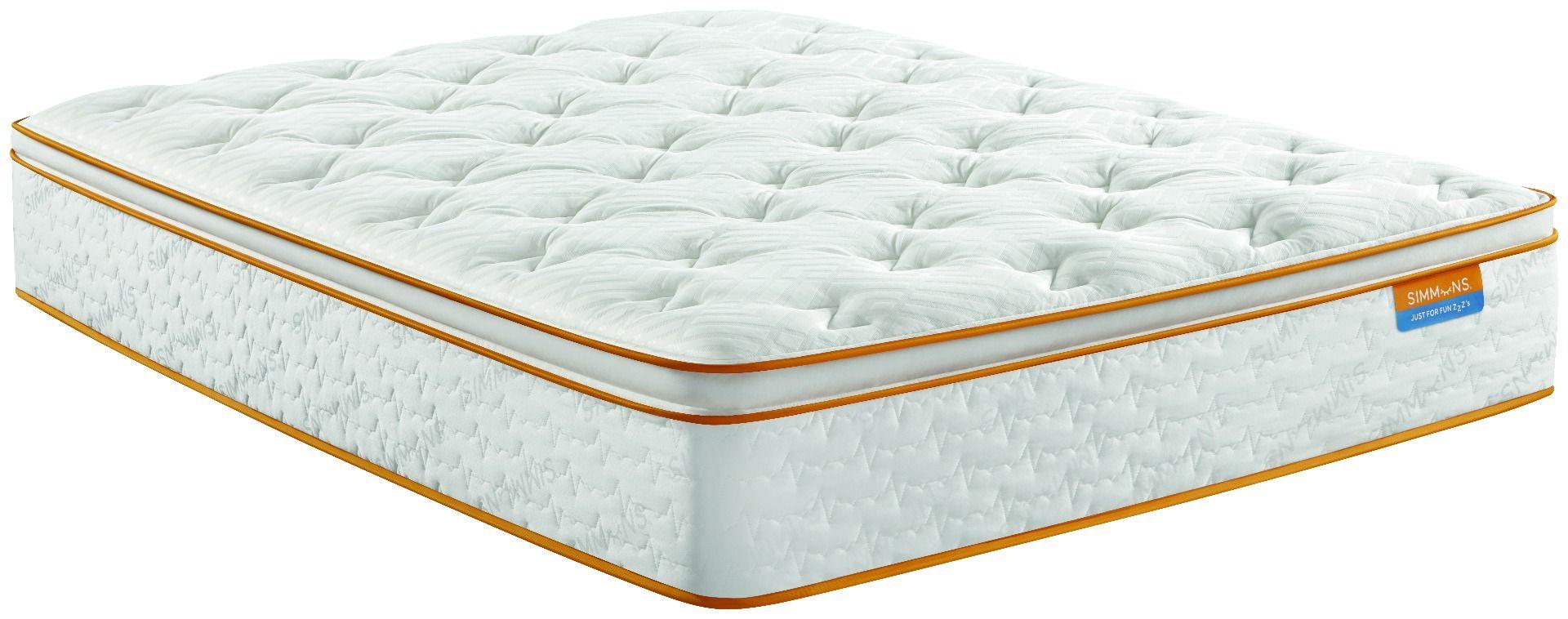 simmons sleep thrillzzz plush pillow top mattress single twin