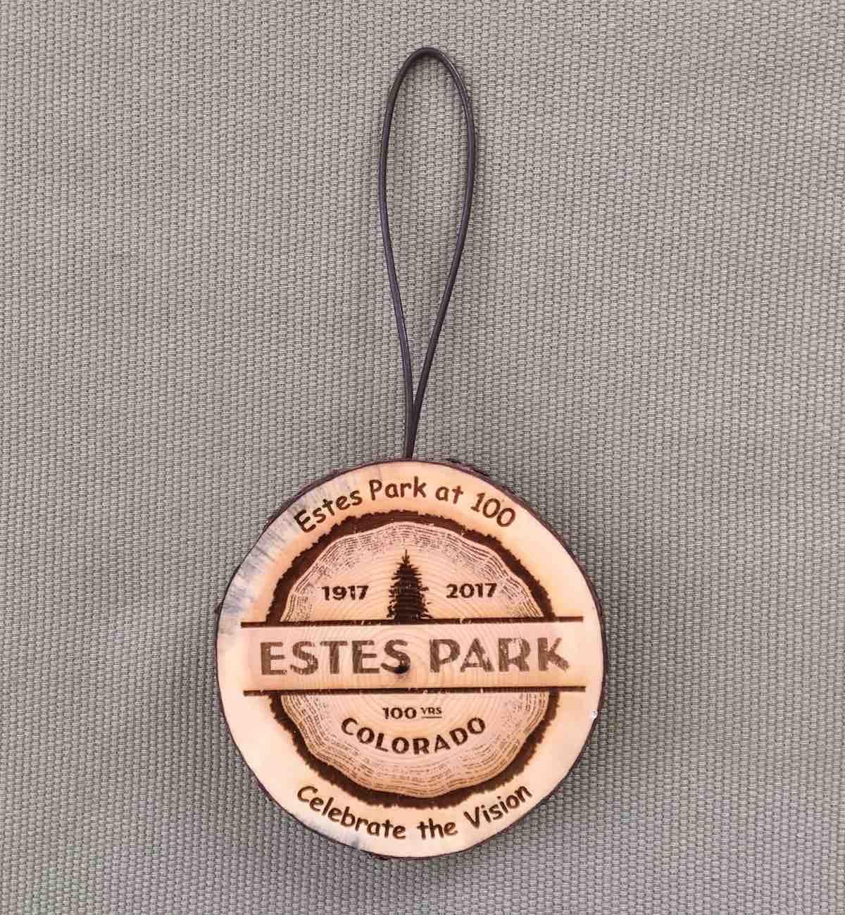 Estes Park Centennial – Bark Ornaments