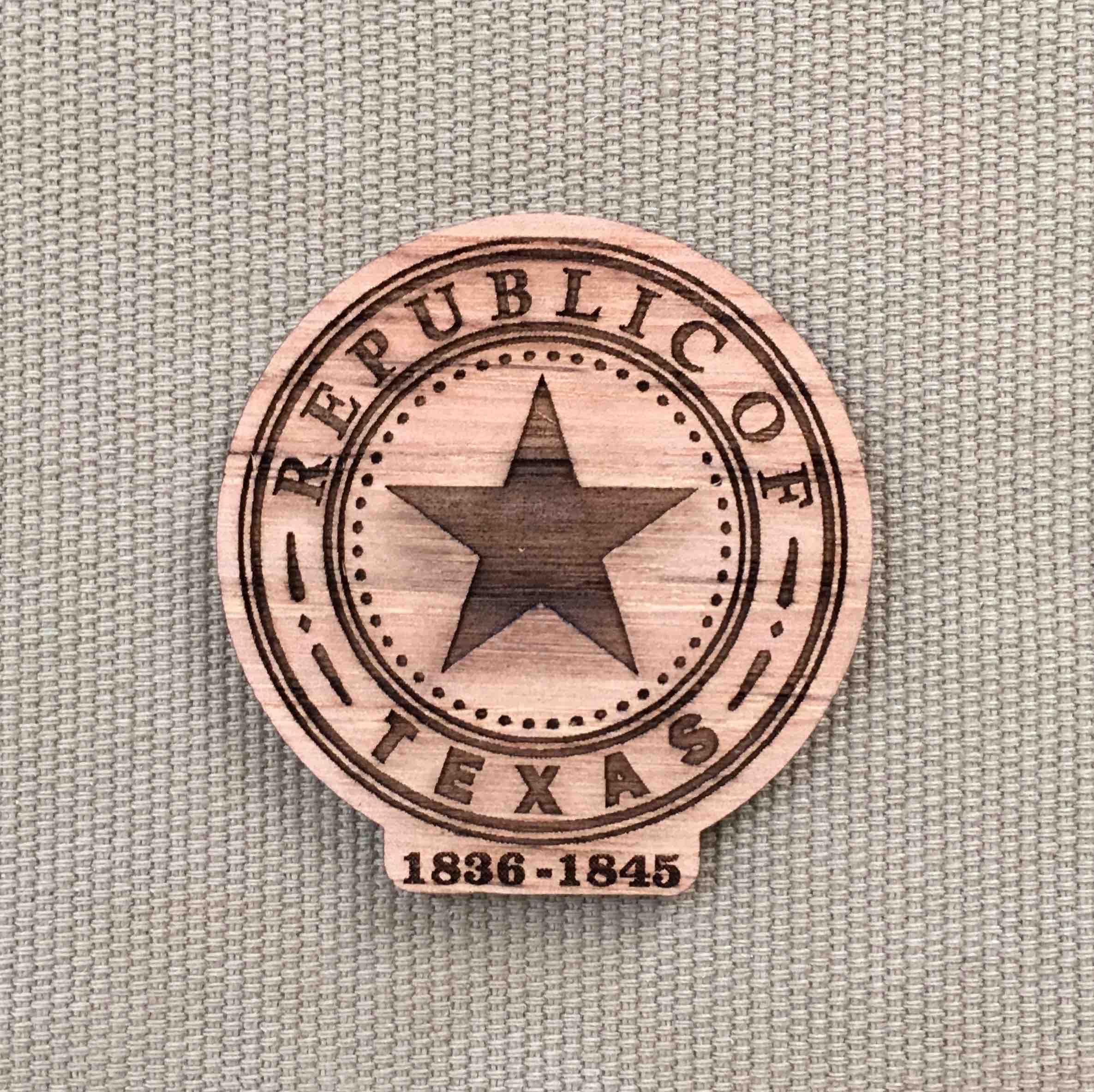 Texas Republic State Seal Magnet