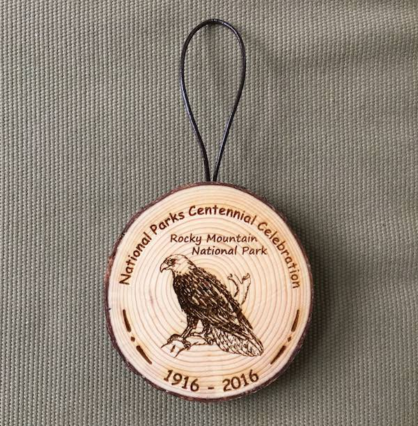 NPS Centennial Celebration Bark Ornament