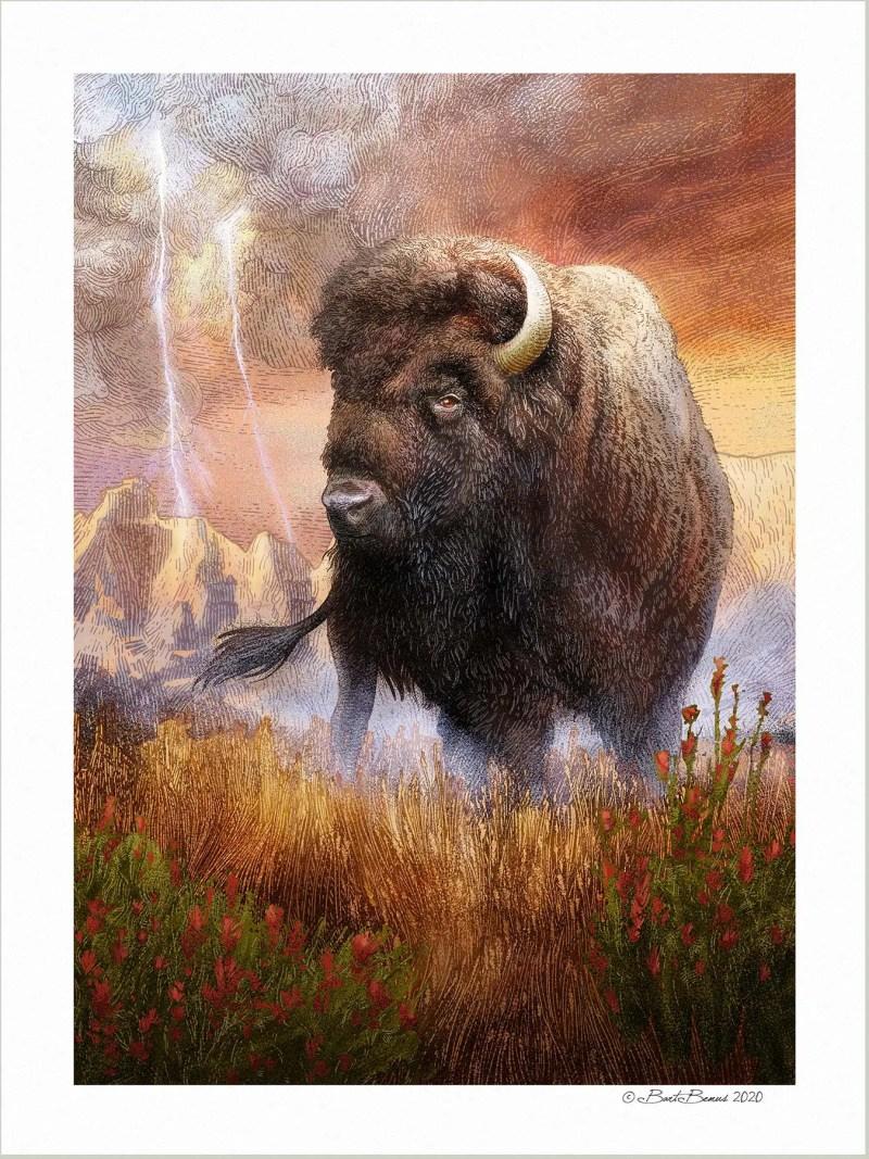 Bold Bison Print