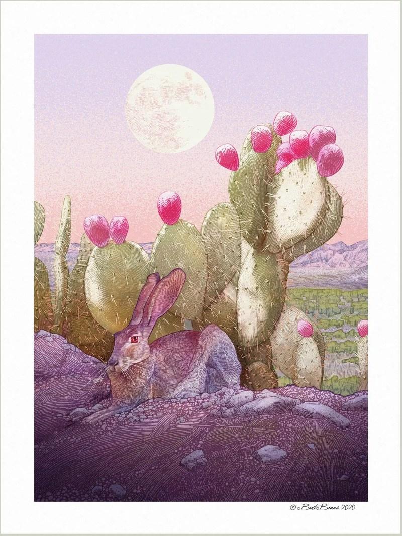 Desert moon print
