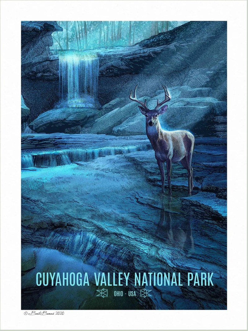 A Vintage Style WPA Poster of Cuyahoga Valley National Park.