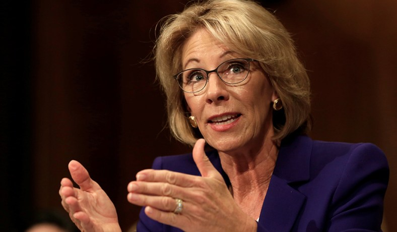 Democrats Demand Betsy Devos Reveal >> Betsy Devos Democratic Opposition National Review