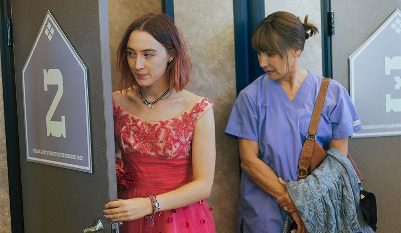 Saoirse Ronan Left And Laurie Metcalf In Lady Bird Photo A24 Films This Mother Daughter