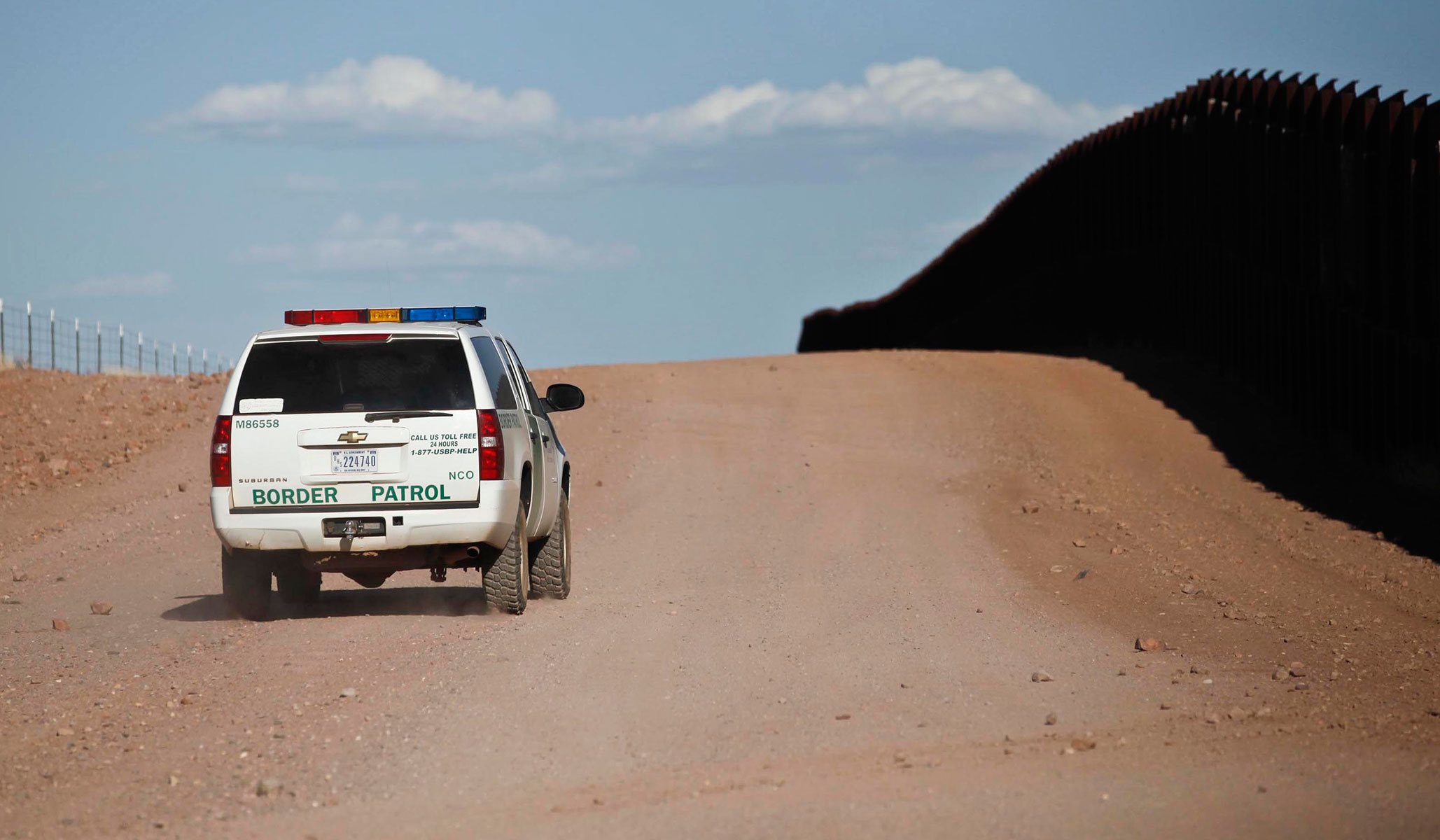 Elegant A Border Patrol Vehicle At The U.S. Mexico Border Wall Near Naco, Ariz., In  2013. (Reuters File Photo: Samantha Sais) ...