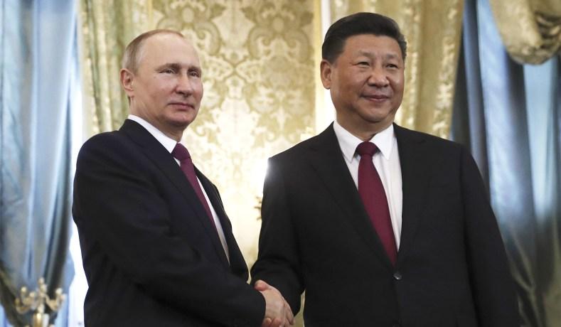 """Résultat de recherche d'images pour """"Vladimir Putin, president Xi 2018"""""""