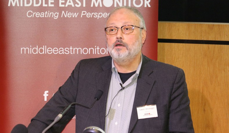 6b2f5380969 Saudi dissident Jamal Khashoggi speaks at an event hosted by Middle East  Monitor in London