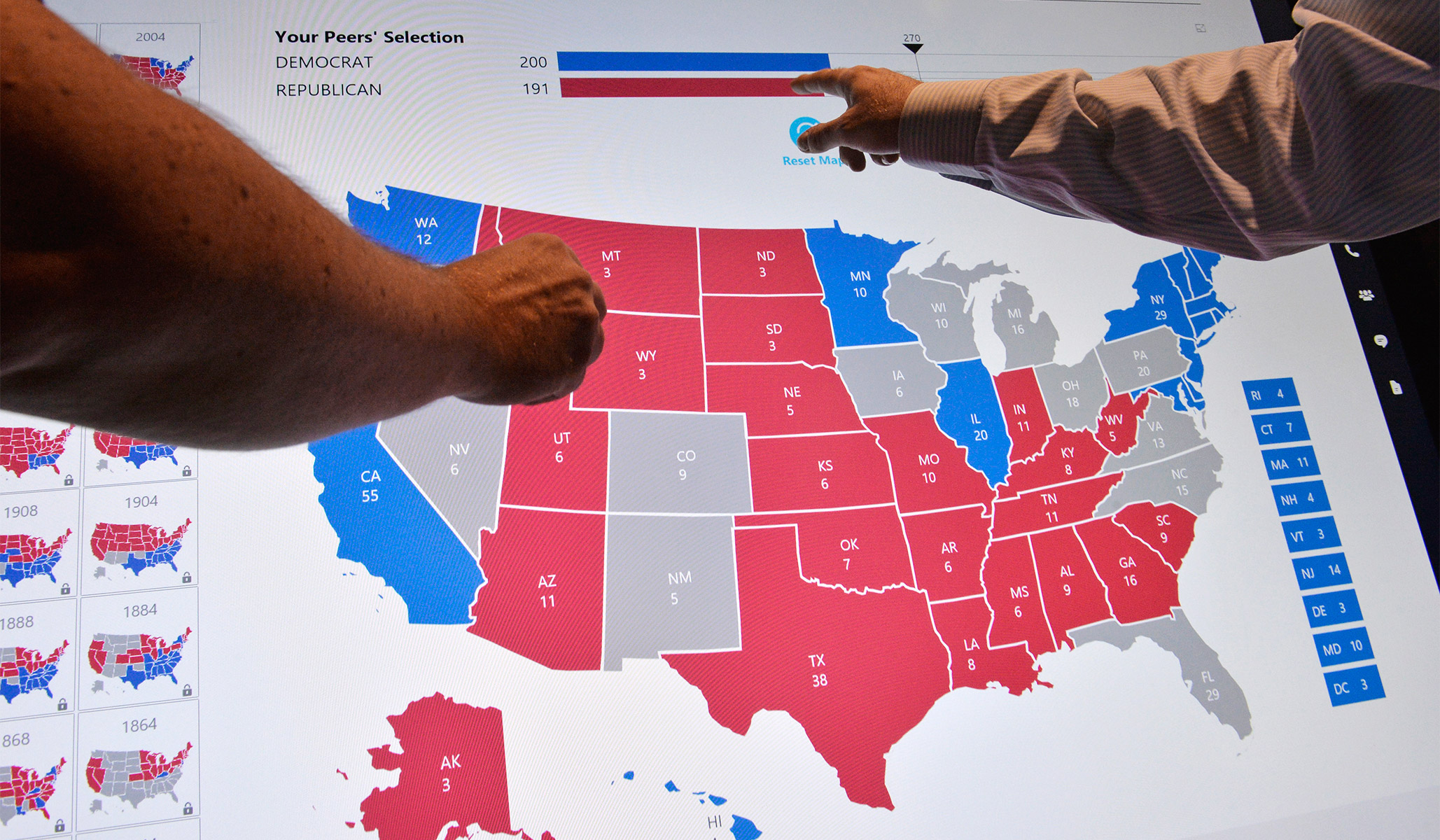 The Electoral College And The Two Party System National Review - 2004-us-electoral-map