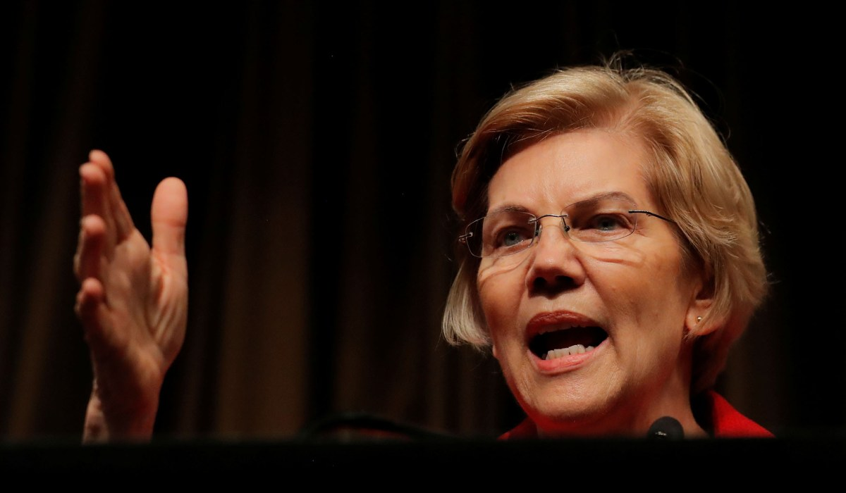 Senator Elizabeth Warren Calls For Donald Trump's