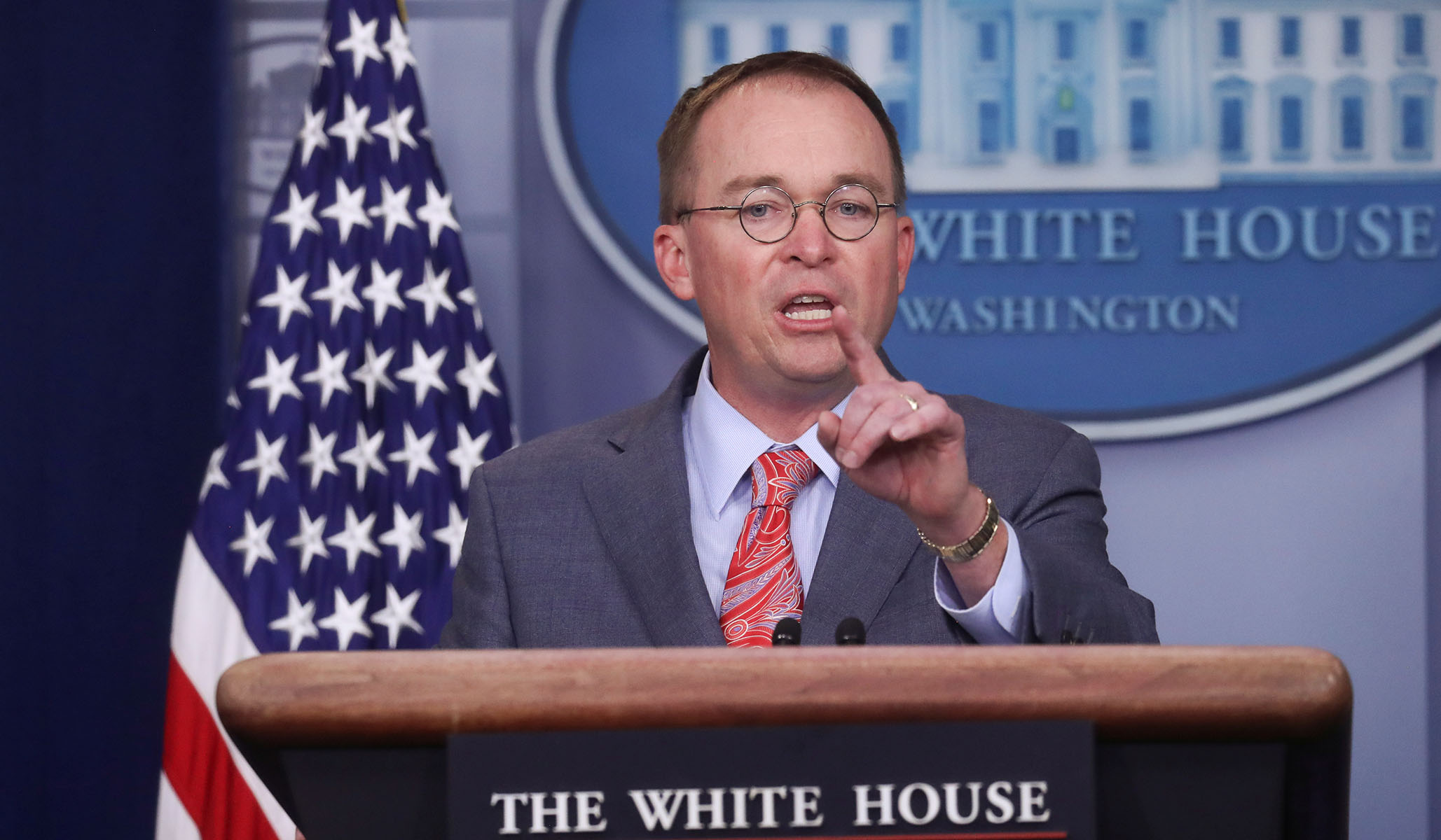 Mulvaney Confirms Trump Withheld Aid to Pressure Ukraine to Investigate 2016 Election Interference