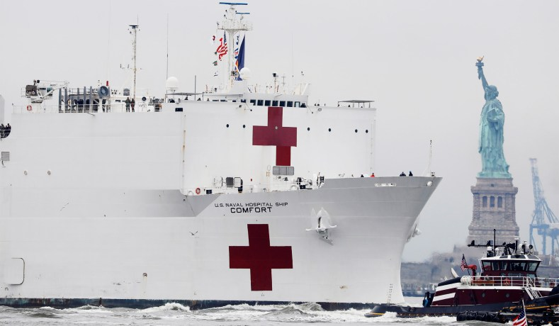Hospital Ship USNS Comfort Arrives in New York | National Review