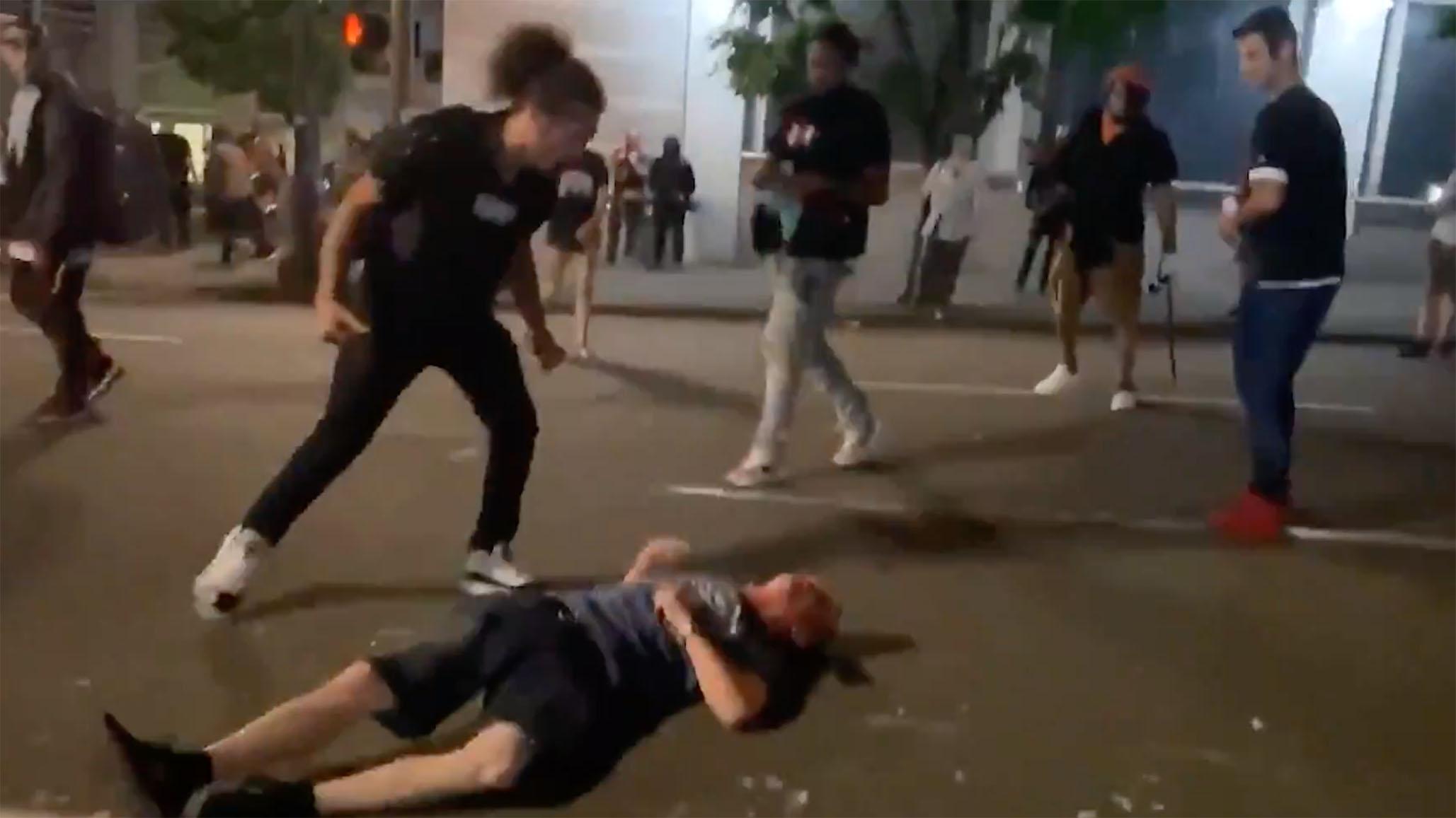 Black Lives Matter, Antifa Crowd Beat Man Unconscious in Portland ...