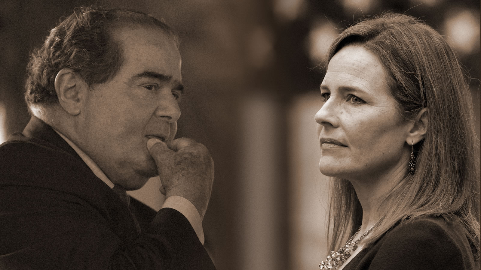 "Amy Coney Barrett & Antonin Scalia -- ""His Judicial Philosophy Is Mine,  Too."" | National Review"