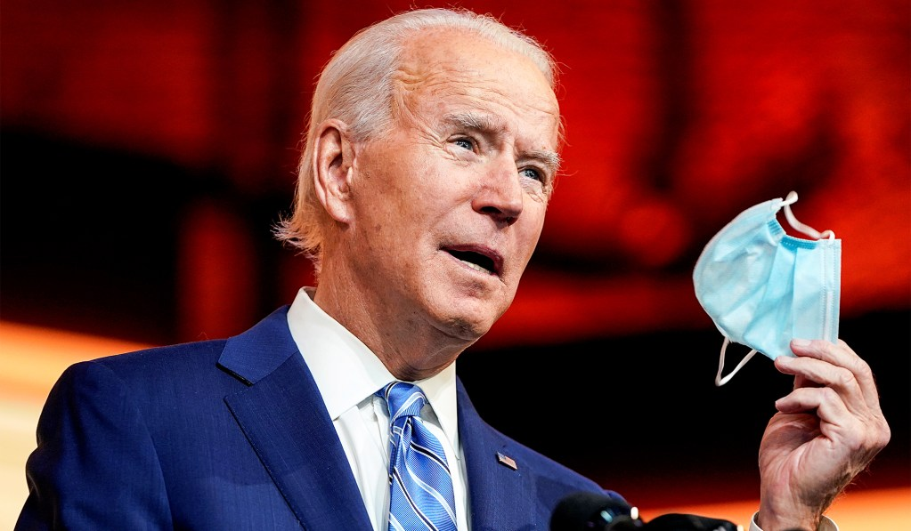 Biden Will Ask Americans to Wear Masks for First 100 Days of Administration