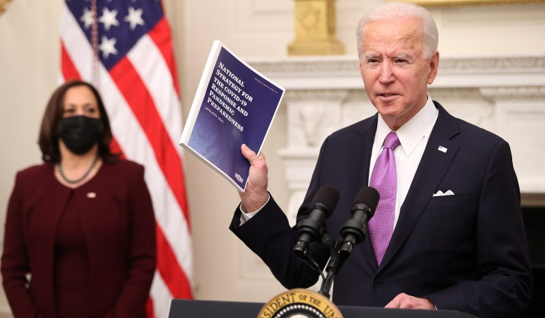 Biden Admonishes Reporter for Questioning Whether Vaccine Goal Is Ambitious Enough: 'Give Me a Break'