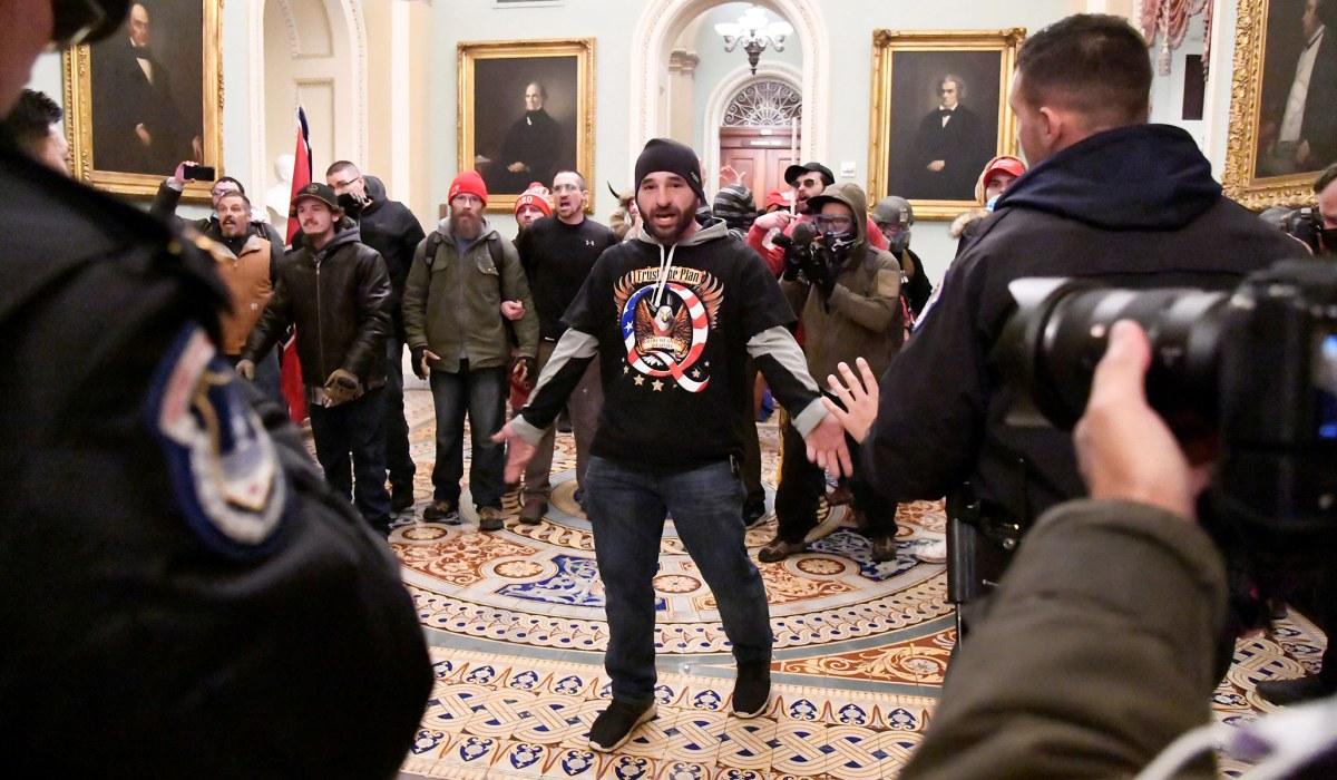 Capitol riot qanon shirt