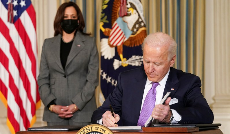 Out of the Gate, Biden Ditches Bipartisanship