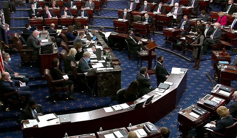 Senate Votes to Proceed with Trump Impeachment Trial thumbnail