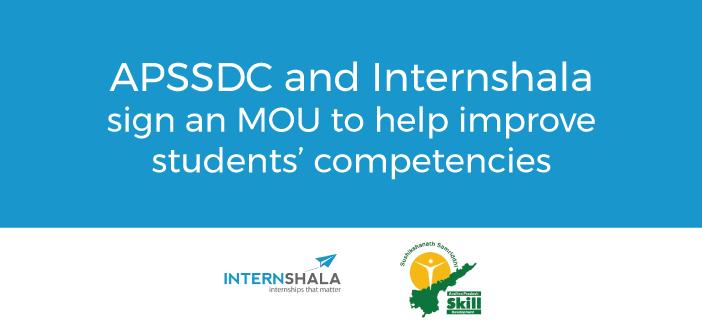 APSSDC Internshala partnership