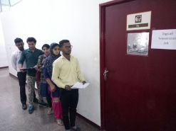 Candidates waiting for Interview