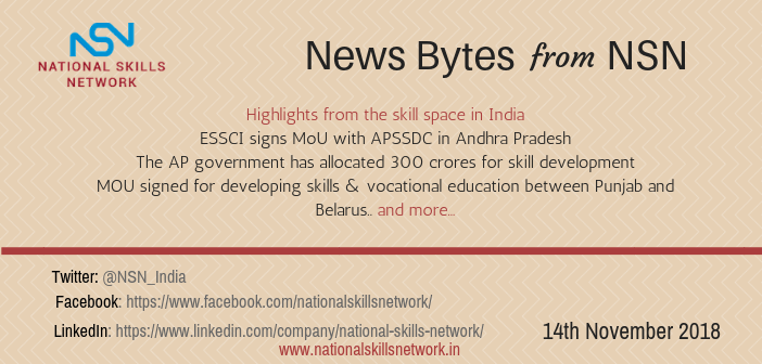 News Bytes from NSN – Quick updates on skill development and Vocational Training