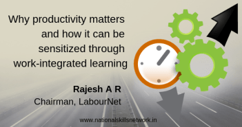 Productivity matters and work-integrated learning
