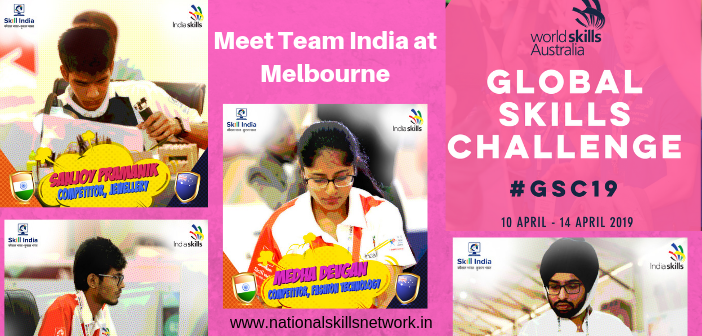 Team India at Global Skills Challenge 2019, Melbourne, Australia