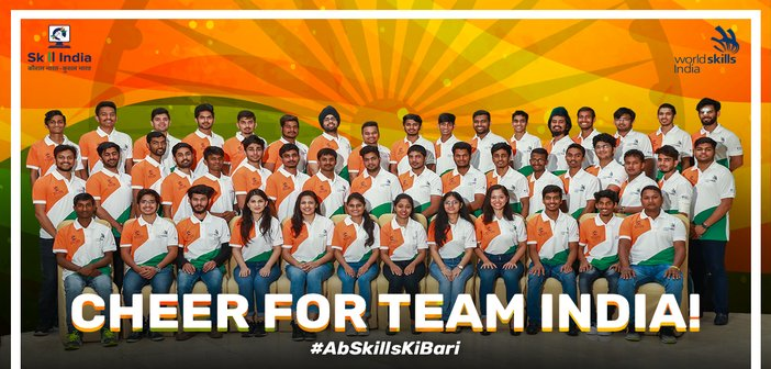 Team India forWorldSkills International Competition 2019 at Kazan Russia