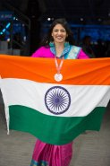 Shweta Ratanpura represented Maharashtra and won the Bronze medal in Graphic Designing