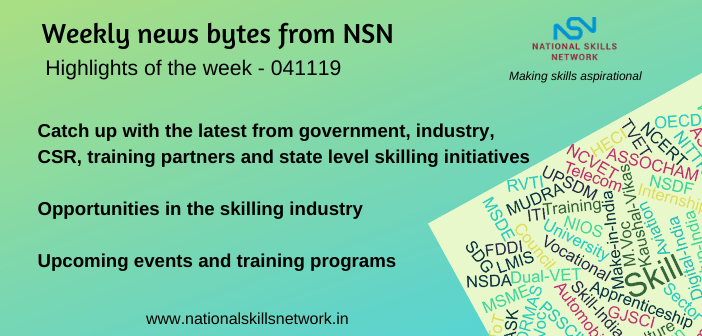 News Bytes on Skill Development and Vocational Training – 041119