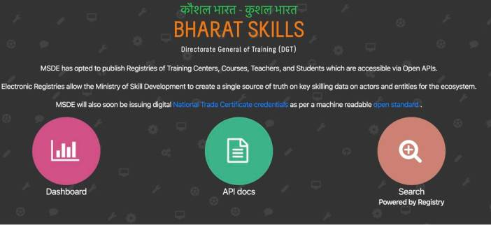 DGT launches public registry for all skill development information