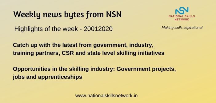 News Bytes on Skill Development and Vocational Training – 20012020