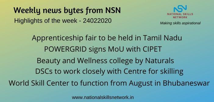 News Bytes on Skill Development and Vocational Training – 25022020