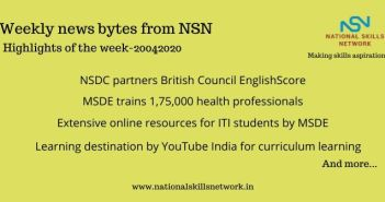 News Bytes on Skill Development and Vocational Training – 20042020