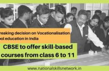 CBSE to offer vocational skill-based courses