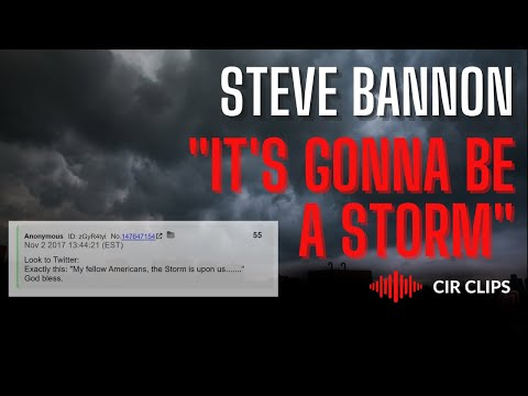 "Steve Bannon: ""It's Gonna Be A Storm, A Gathering Storm"""