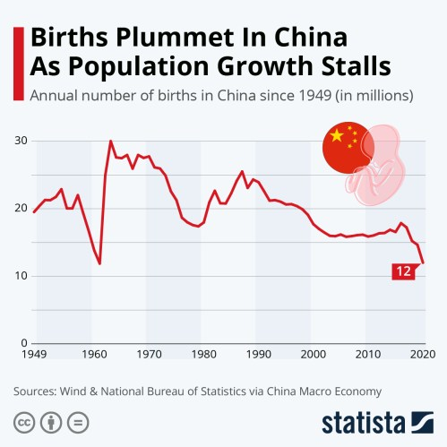 Infographic: Births Plummet In China As Population Growth Stalls | Statista