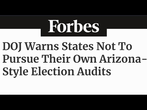 """BREAKING: BIDEN'S DOJ ISSUES WARNING TO ARIZONA AND ALL STATES  CONDUCTING """"SO-CALLED AUDITS"""" +NEWS"""