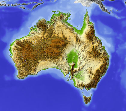 Topography Australia Average Area System
