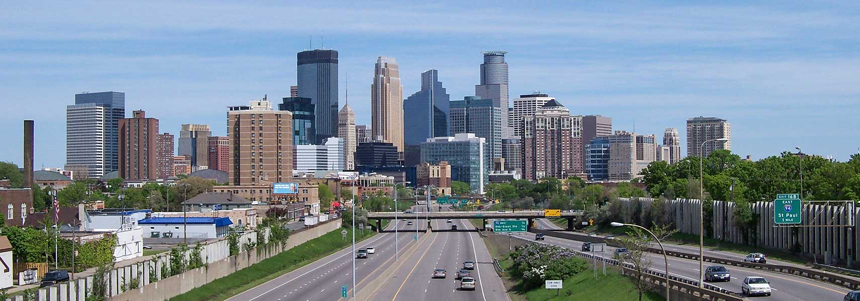 Google Map of the City of Minneapolis  Minnesota  USA   Nations         Searchable Map and Satellite View of the City of Minneapolis  Minnesota   45 degree view available