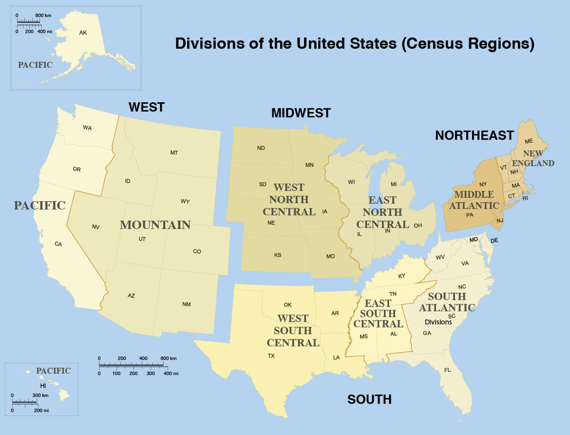 Pacific States And Capitals