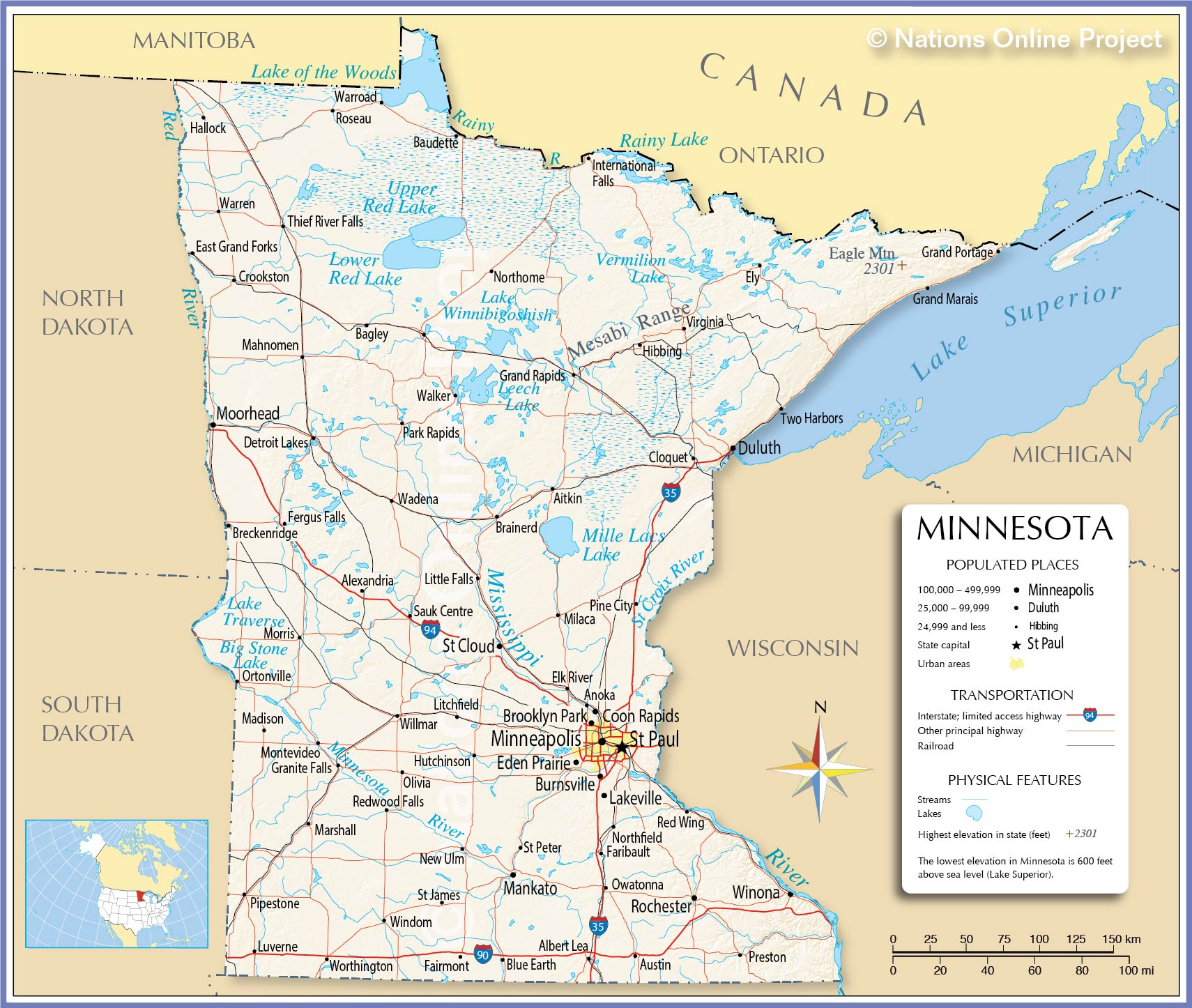 US State Department And Resettlement Contractors Salted Minnesota - Minnesota on a us map