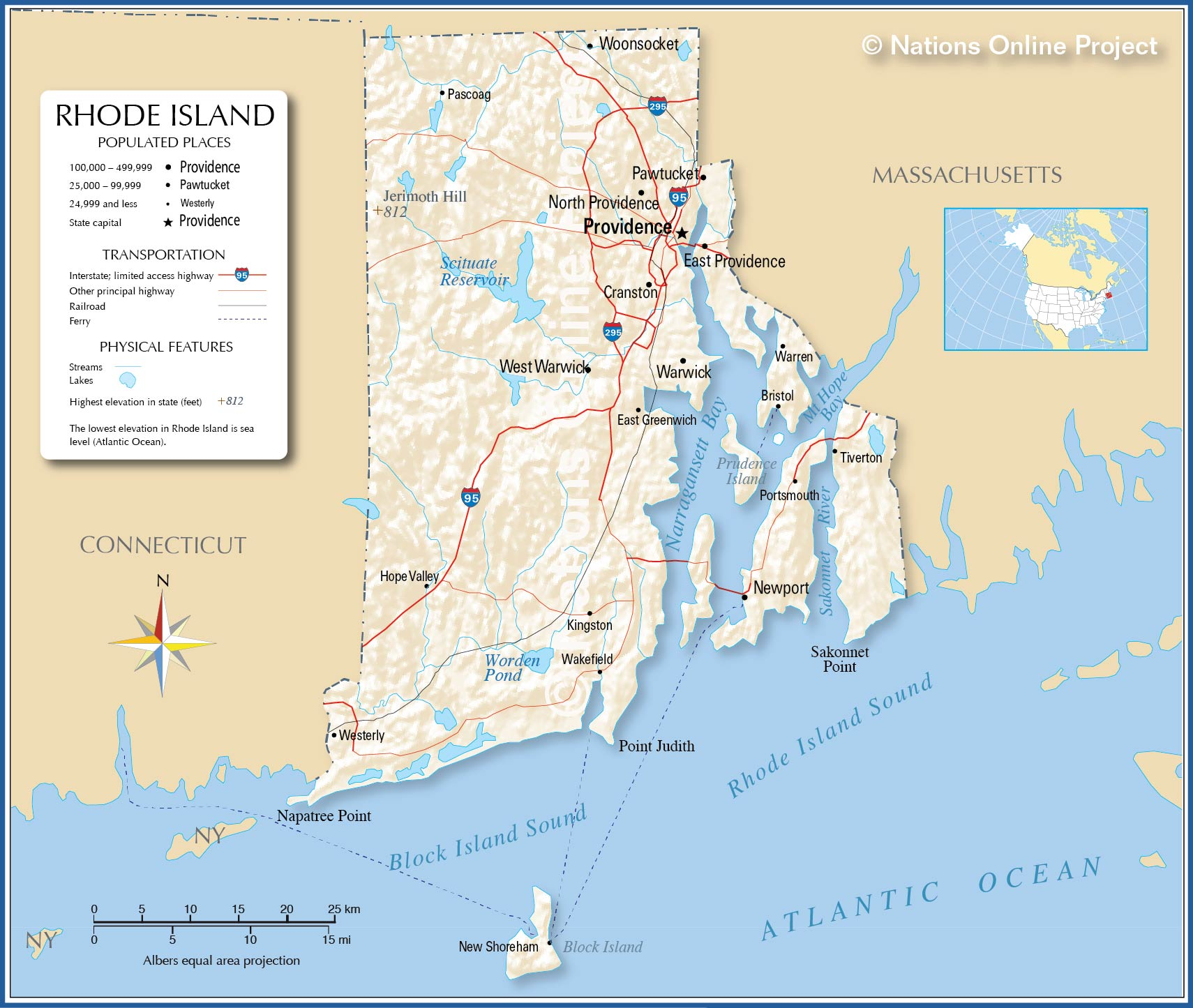 Map Ri Towns Newport
