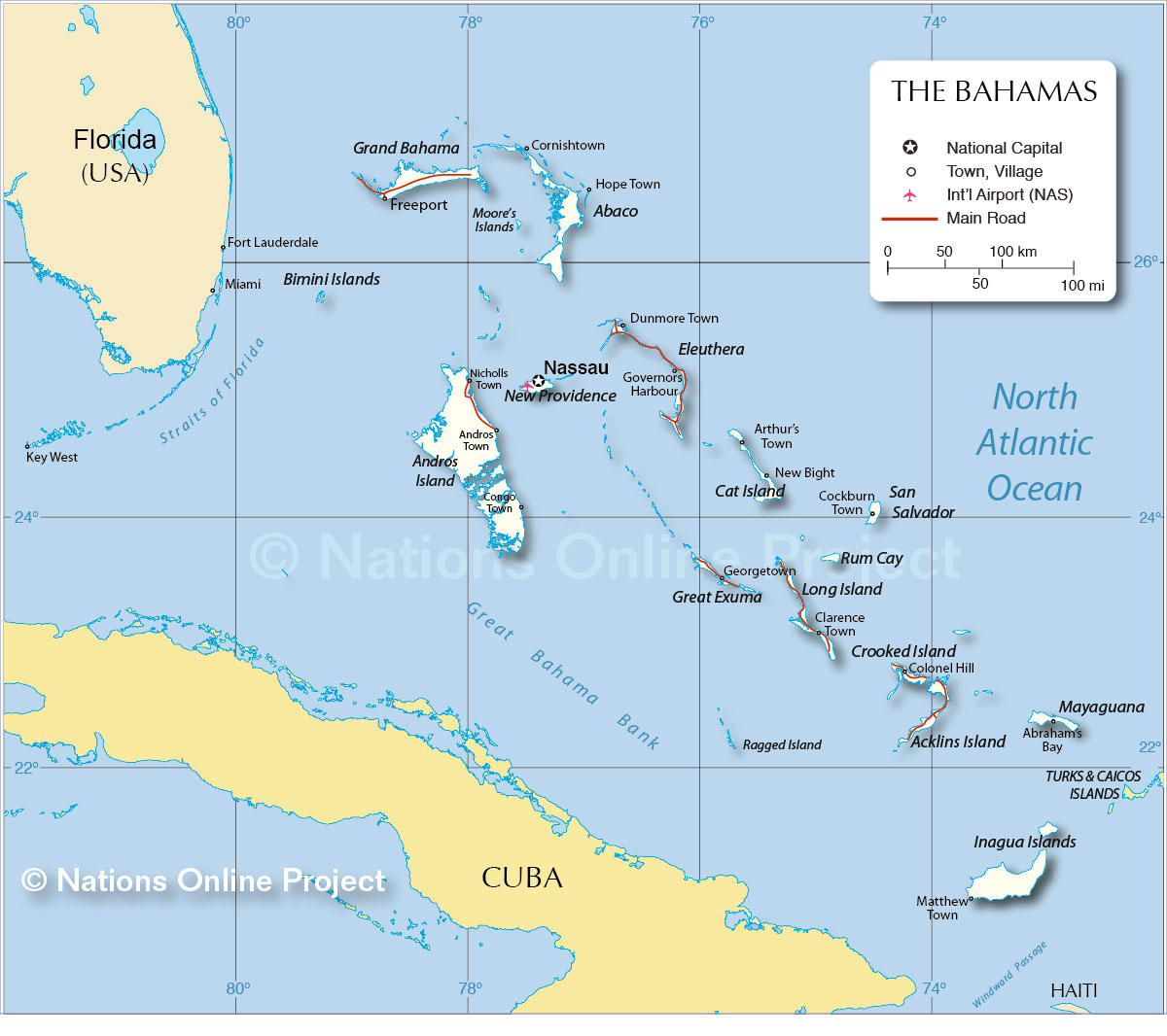 Dominican Republic Map Neighboring Countries