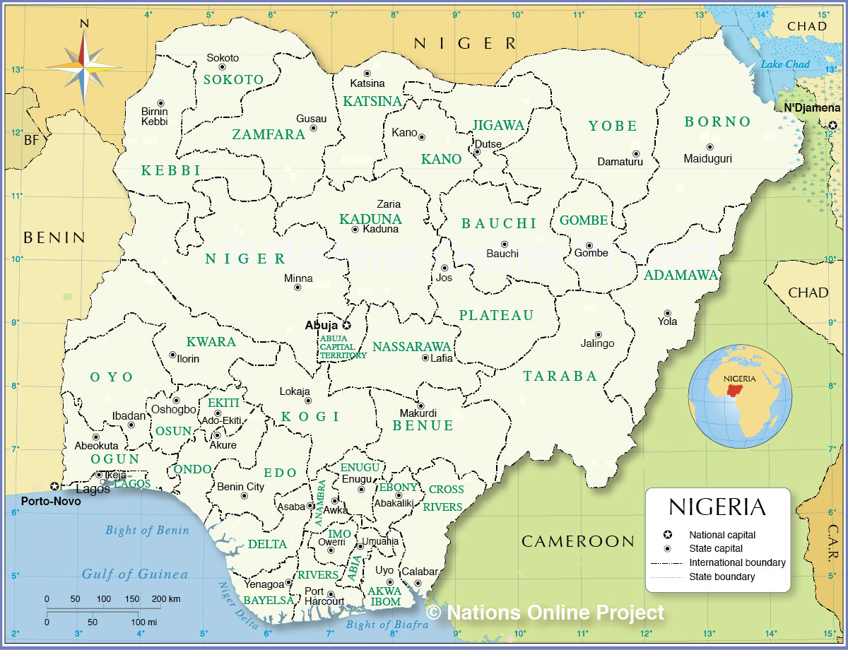 Administrative and Political Map of Nigeria