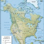 Shaded Relief Map Of North America 1200 Px Nations Online Project