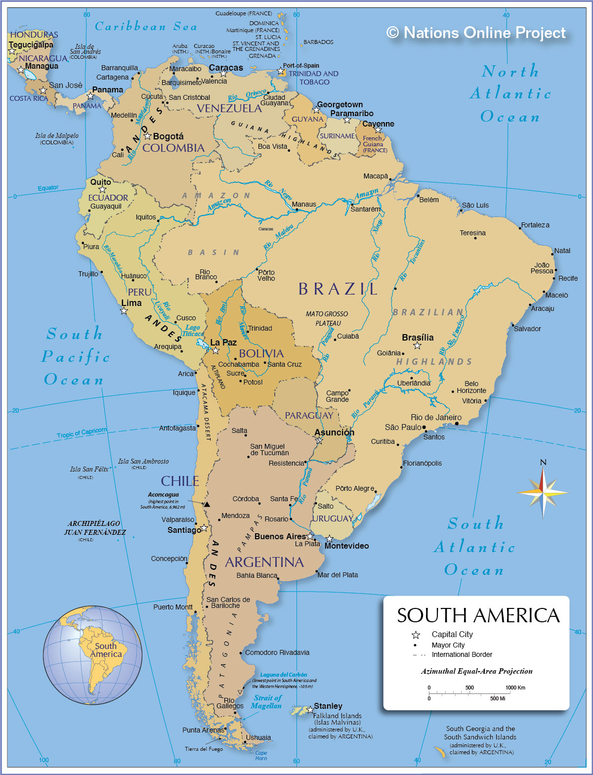 Political Map Of South America Px